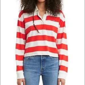 Red and White Stripe Long Sleeve 🥰